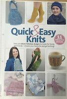 KNITTING PATTERN 11 Quick and Easy Knits Hat Socks Gloves Mug Hug Bag Scarf