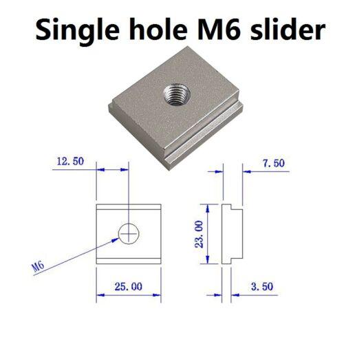 300-500mm Aluminium T-Track T-Slot Miter Jig Tools M6 M8 Nut Woodworking Tool