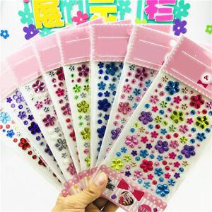 Self-Adhesive-Glitter-Flower-Crystal-Gems-Jewel-Diamond-Sticker-RhinestonR-2Y