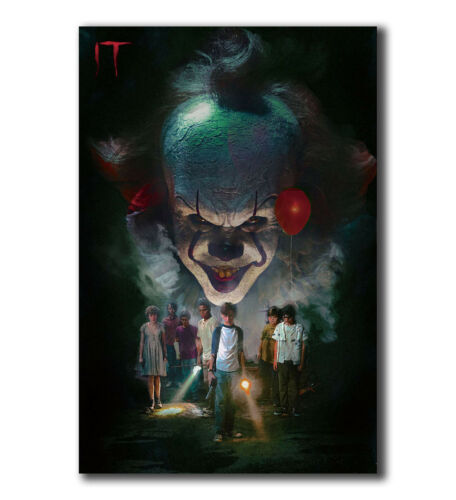T-701 Art Poster IT Movie Pennywise Stephen Hot Silk 24x36 27x40IN