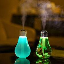 LED Bulb Diffuser Air Humidifier Mist Maker Home Art Decor Gold/Silver Cap
