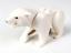 Lego White Polar Bear with 2 Studs on Back Black Eyes Arctic Animal Minifigure
