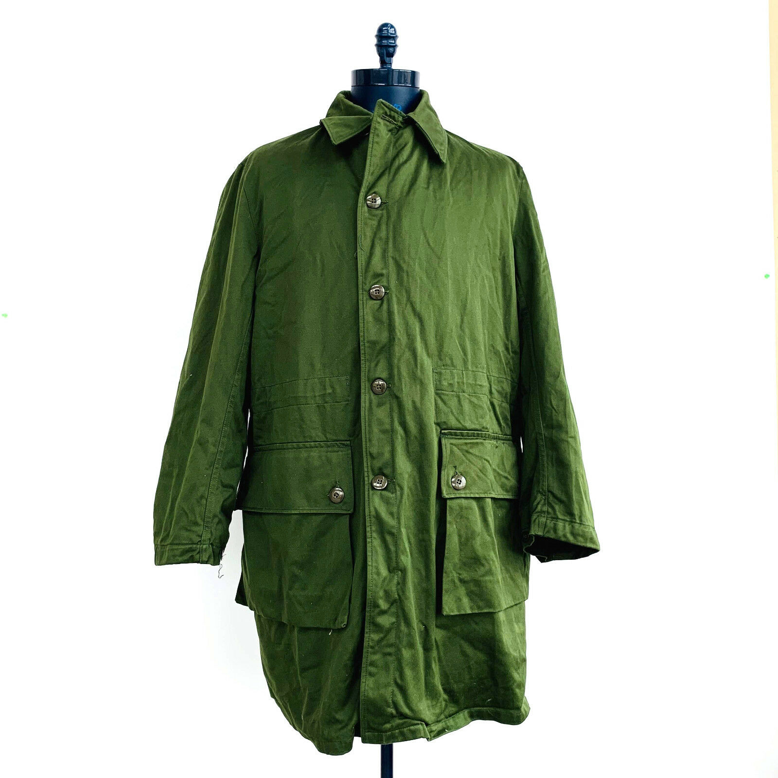 C150 Swedish Army Style Arctic Parka Green Removable Liner Mens Size Large