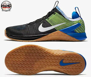 quality design 4c57a 6d768 Image is loading Nike-Metcon-DSX-Flyknit-2-Black-Volt-924423-