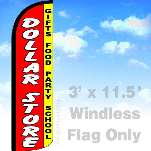 Windless Swooper Flag Feather Banner Sign DOLLAR STORE gifts party 3x11.5 rq