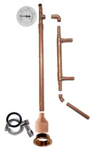 "2/"" x 20/"" Copper Pipe Tri-Clamp Ferrule Keg Still DIY Column Extension Kit Spool"