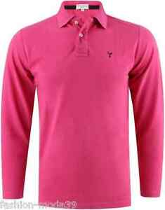 POLO-COTON-HOMME-MANCHES-LONGUES-YVES-ENZO-8203-8-FUCHSIA