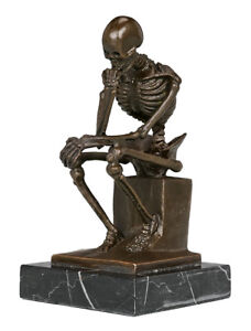 Toperkin-TPE-998-Thinker-Statue-Home-Deco-Famous-Art-Skeleton-Bronze-Sculpture