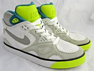a85a5683223 Nike Auto Trainer Shoes 407916-101 Size 7Y High Top Retro VTG Gray ...