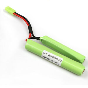 AnmasPower 2//3A 1600 mAh 8.4 V NiMH Rechargeable Battery Pack Airsoft Papillon