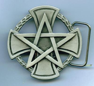 Gürtelschnalle Buckle Pentagramm Pentakel Fünfstern Drudenfuß Magie Esoterik