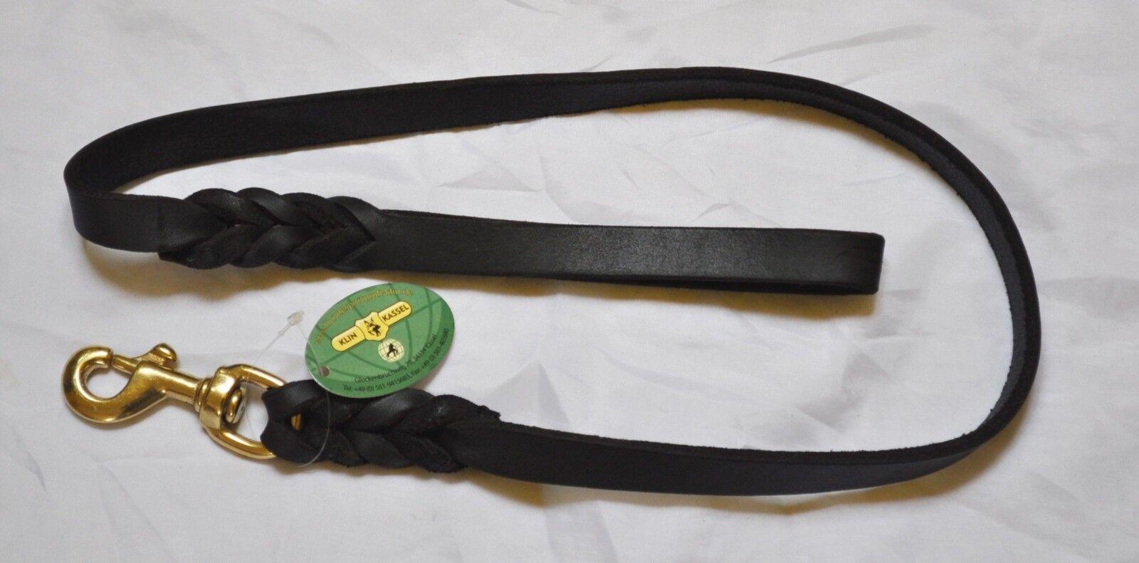 Fettlederleine 1,50m geflochten mit Handschlaufe 5 5 5 Breiten Lederleine Braun  | Haltbar  afa862