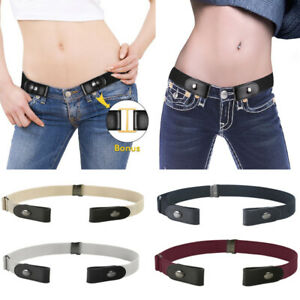 UK-Unisex-Elastic-Stretch-No-Buckle-Waist-Belt-Buckle-Free-Belt-For-Jeans-Pants