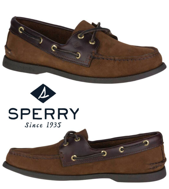 Sperry Top-Sider Authentic Original Boat Leather Shoe Men's Comfort Brown
