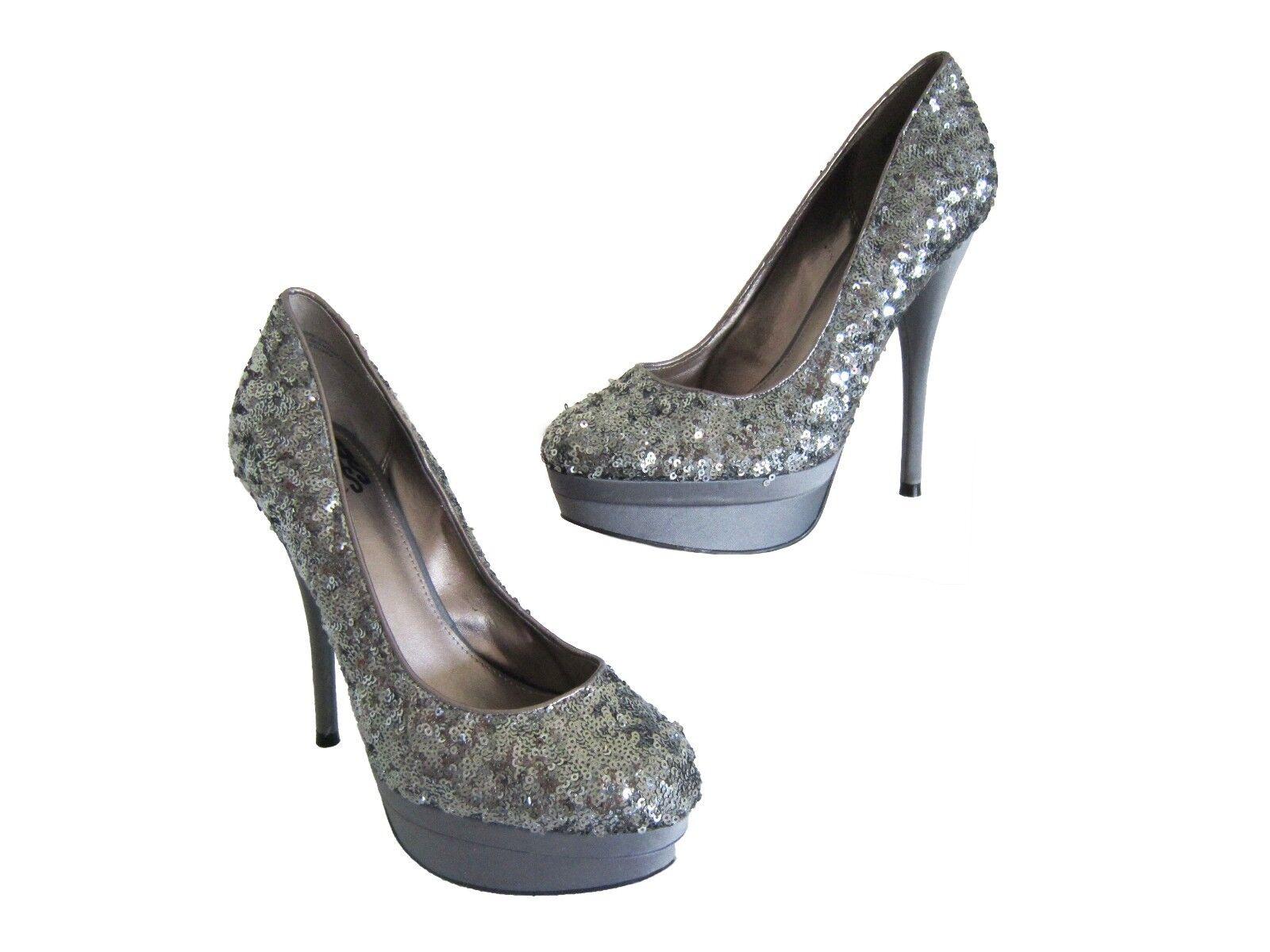 Free Press Glitz Sequin shoes Silver 7.5M