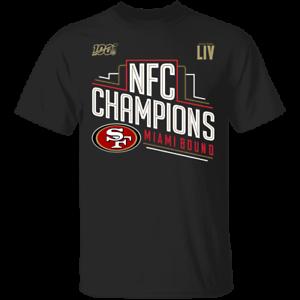 Men/'s San Francisco 49ers NFC Champions Miami Bound 2019 Black T-shirt M-XXXL