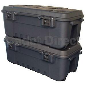 New-Heavy-Duty-Plano-Military-Storage-Trunk-Pack-of-2-Black