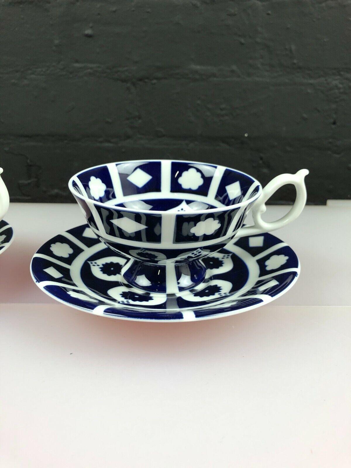 Image 2 - 2 x Royal Crown Derby Unfinished Imari 1128 Elizabeth Tea Cups & Saucers 5 Sets