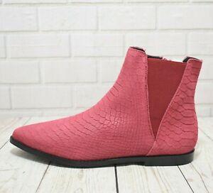 Womens Kaleidoscope Pink Zip Up Low Heel Ankle Boots UK 5 EUR 38 RRP- £49