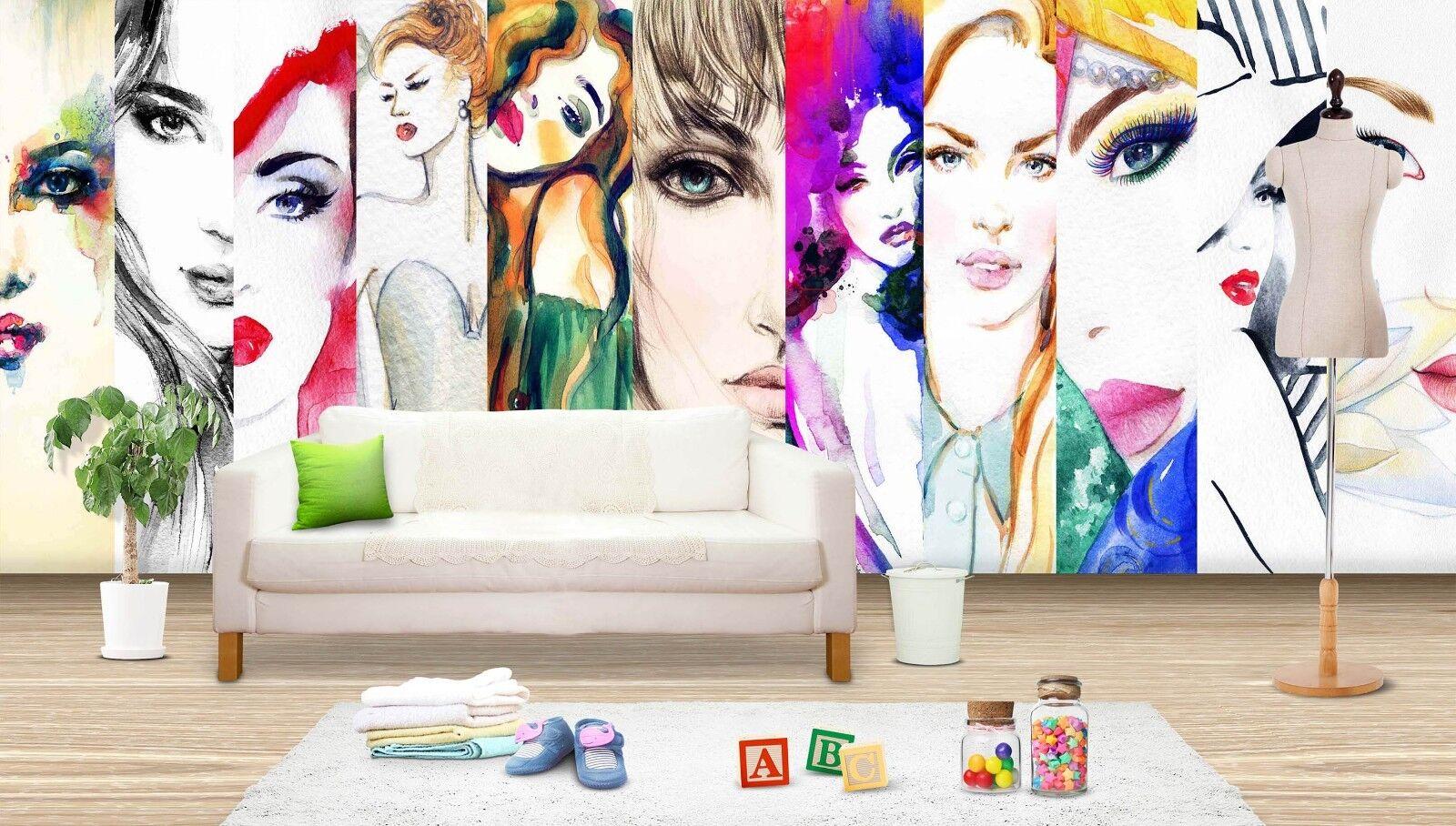 3D Modern Girl 7220 Wallpaper Mural Wall Print Wall Wallpaper Murals US Lemon