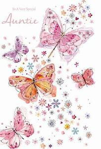 Image Is Loading To A Special Auntie Flowers Amp Butterfly Design