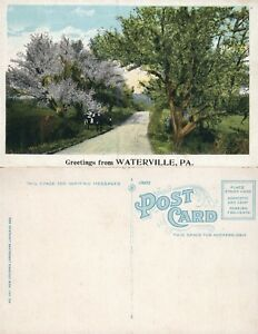 GREETINGS-FROM-WATERVILLE-PA-ANTIQUE-POSTCARD