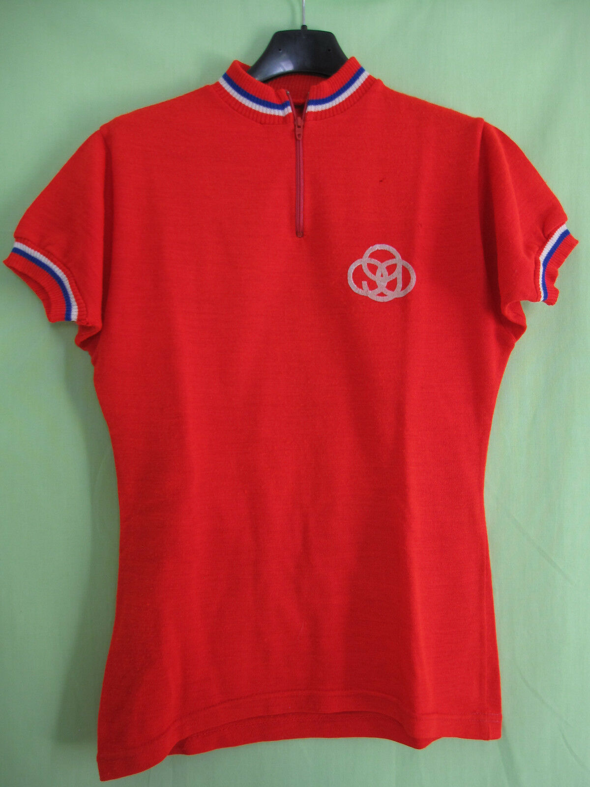 Maillot Cycliste vintage GITANE red Acrylique Velo 70'S jersey - S