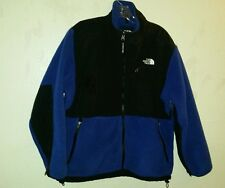 Warm Blue Black THE NORTH FACE Sz Large Fleece Jacket Zipper Front and Pockets