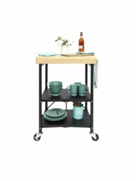 Origami Folding Kitchen Island Cart - 6800500 | HSN | 600x450