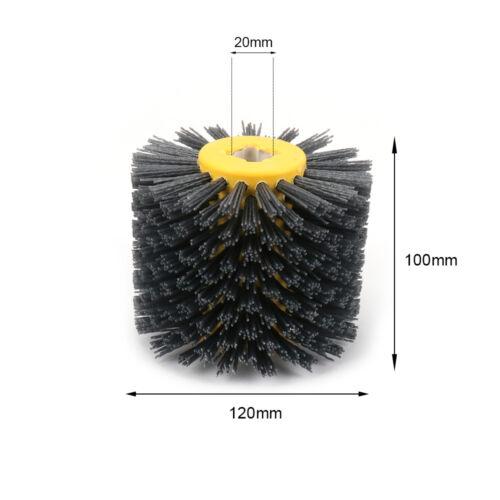 Grit 80~240 Nylon Abrasive Wire Polishing Drawing Wheel Burnishing Metal 120mm