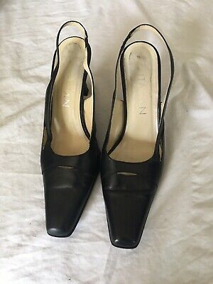 black slingback shoes size 7