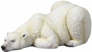 9-25-034-Wild-Polar-Bear-Sleeping-Wildlife-Statue-Animal-Decor-Figure-Sculpture