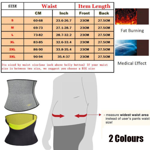 Men/'s Sauna Vest Weightloss Neoprene Waist Trainer Compression Vest Body Shaper