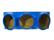 Triple 12 fiberglass sub woofer speaker box enclosure carpeted MDF case BLUE