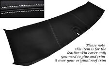 WHITE STITCH FITS CORVETTE C5 97-04 HALO ROOF TRIM LEATHER SKIN COVER ONLY