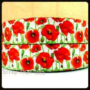 Poppies ribbon 1 grosgrain remembrance day war memorial flower image is loading poppies ribbon 1 034 grosgrain remembrance day war mightylinksfo