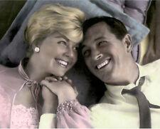 "DORIS DAY ROCK HUDSON PILLOW TALK 1959 ACTORS 8X10"" HAND COLOR TINTED PHOTOGRAPH"