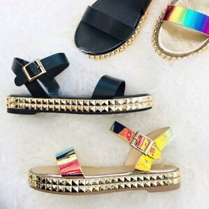 Idolize-04-Bamboo-Pyramid-Studded-Accents-Open-Toe-Ankle-Buckle-Flatform-Sandals