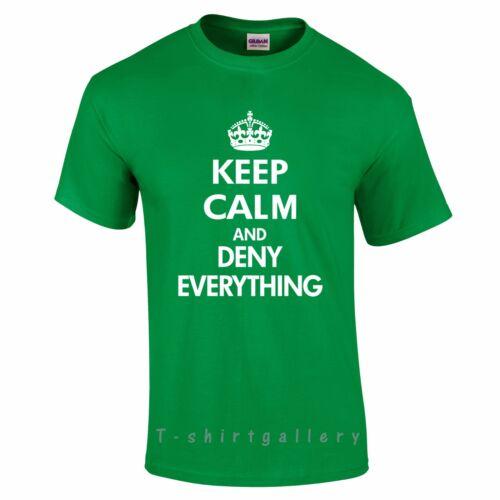 Keep calm et nier tout ce drôle anniversaire cadeaux femme//homme cadeau t-shirt