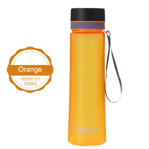 600//1000ml Water Bottle Portable Travel Cup Sport Bottle Fruit Juice Outdoor US