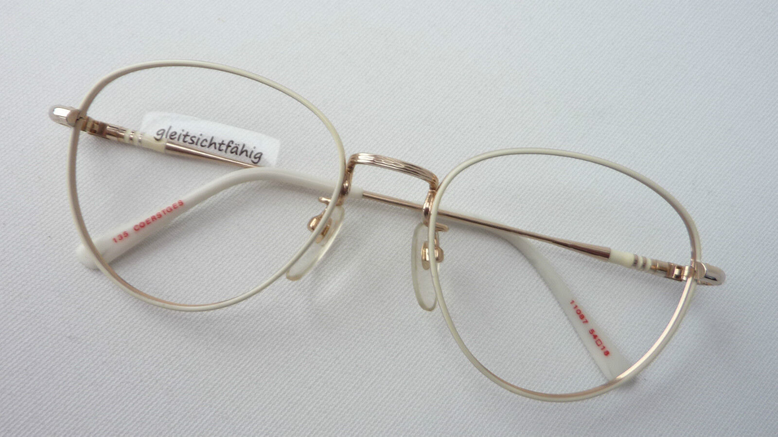 Runde Pantobrille Brillen oval cremeweiß Brillengestell Vintagefassung Grösse L | | | Elegante Und Stabile Verpackung  | Perfekt In Verarbeitung  | Qualität und Verbraucher an erster Stelle  601911