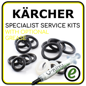 Optional Grease KARCHER Pressure Washer Hose Union O-Ring seal service Kit