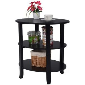 Image Is Loading 3 Tier Oval End Table Sofa Side Table