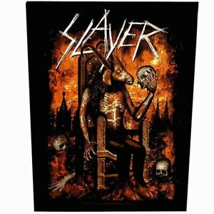 Slayer-Devil-On-Throne-Back-Patch-Official-Heavy-Metal-Backpatch-New