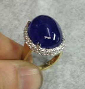 33-60-ct-Large-Loose-Oval-shape-Tanzanite-cabochon-20-8-by-15-60-mm-good-quality