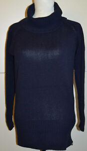 huge selection of 39417 34fd4 Details zu ESMARA Damen-Pullunder mit Rollkragen Strick Long Pullover Blau S