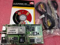Ati All-in-wonder Pro 8mb Agp Video Graphics Vga Card W/ Built-in Tv Tuner,