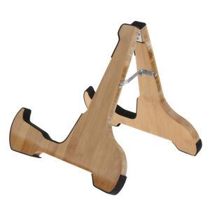 wooden guitar stand folding a frame design for acoustic guitar parts ebay. Black Bedroom Furniture Sets. Home Design Ideas