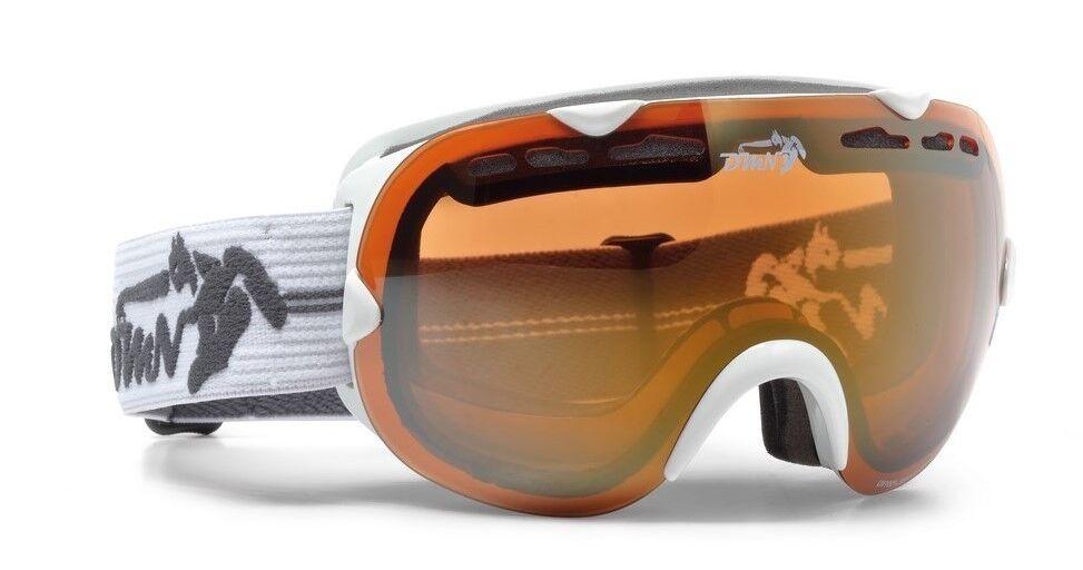 DMN Legend Weiß Skibrille Snowboardbrille
