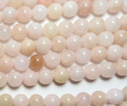 "15"" MORGANITE Pink AQUAMARINE BERYL 8mm Round Beads NATURAL /M8"